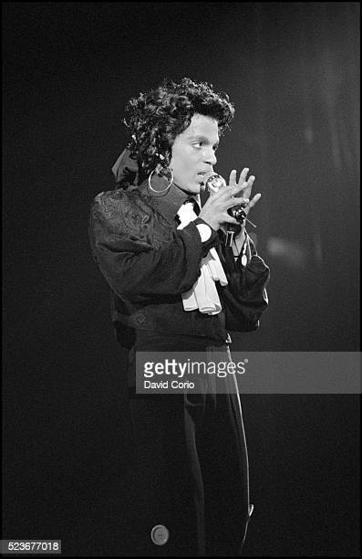 Prince performing at Wembley Arena London UK on 28 July 1988