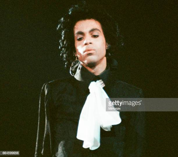 Prince performing on stage at Wembley 29th July 1988Prince performing on stage at Wembley 29th July 1988 .