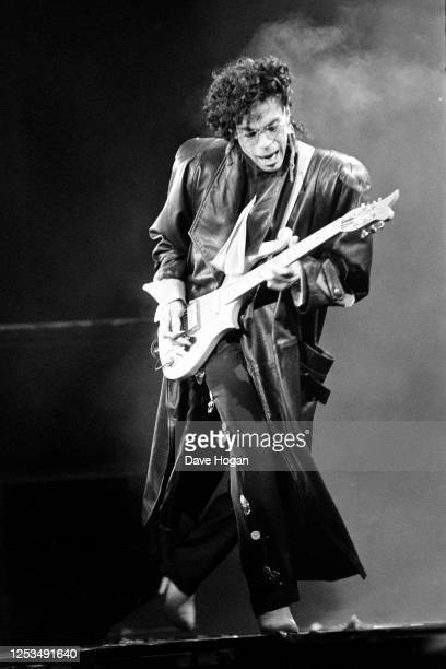 Prince performing on stage at Wembley Stadium London August 13th 1986