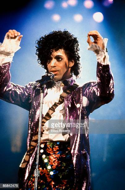 UNITED STATES MARCH 01 NASSAU COLISEUM PRINCE Prince performing on stage Purple Rain Tour