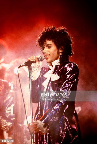 CLUB Photo of PRINCE Prince performing on stage Purple Rain Tour