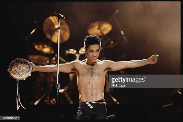 Prince Performing with Tambourine