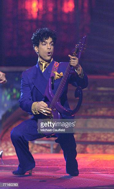 Prince performs a medley of his hits