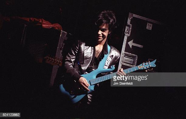Prince performs at Bunker's Music Bar Grill in Minneapolis Minnesota on April 4 1988