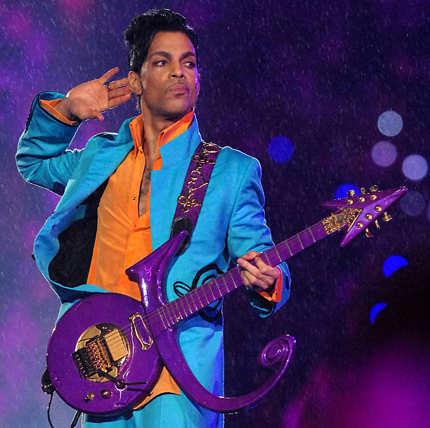 Prince performs at half time during Super Bowl XLI between the Indianapolis Colts and Chicago Bears at Dolphins Stadium in Miami, Florida on February...