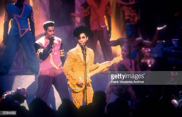 Prince performs at the 1991 MTV Video Music Awards Held in Los Angeles CA on September 5 1991 Photo by Frank Micelotta/Getty Images