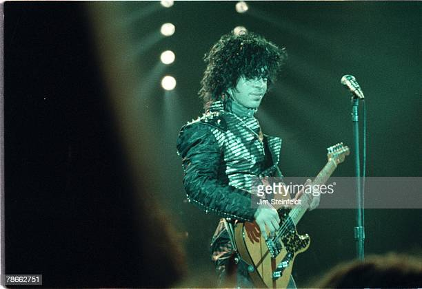 Prince performs at the First Avenue Nightclub in Minneapolis, Minnesota in 1983.