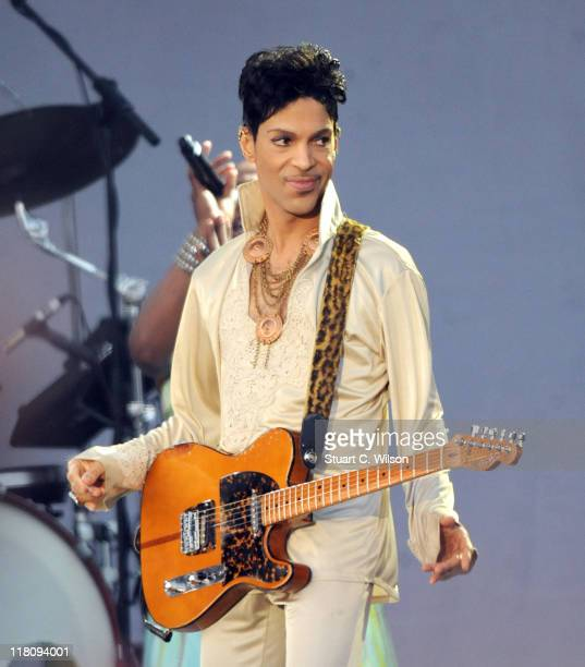 Prince performs at the Hop Farm festival at The Hop Farm on July 3 2011 in Paddock Wood England
