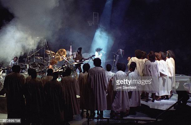 Prince performs during the Lovesexy Tour at the Met Center in Bloomington Minnesota on September 14 1988
