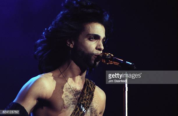 Prince performs during the Nude Tour at the St Paul Civic Center Arena in St Paul Minnesota on May 6 1990