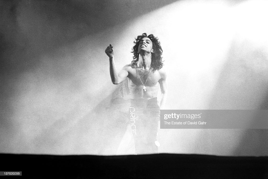 Prince performs live at Madison Square Garden on October 2, 1988 in New York City, New York.