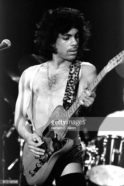 Prince performs live on stage at Ritz Carlton in New York on March 21 1981 as part of his Duirty Mind tour
