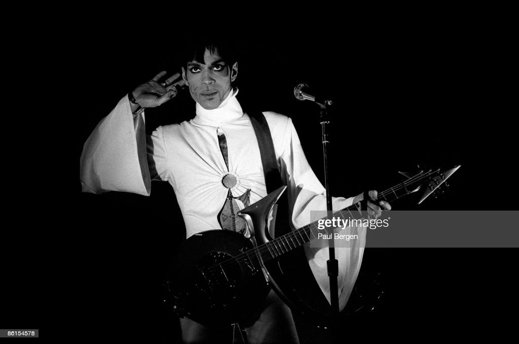Prince performs live on stage at the Brabathallen in Breda, Holland on March 24 1995. The Ultimate Live Experience Tour