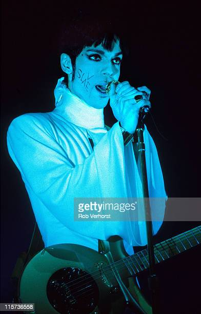 Prince performs on stage at Brabant Hallen 'sHertogenbosch Netherlands 24th March 1995