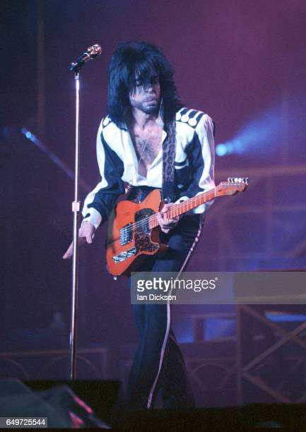 Prince performs on stage at Feyenoord Stadium Rotterdam The Netherlands 2nd June 1990