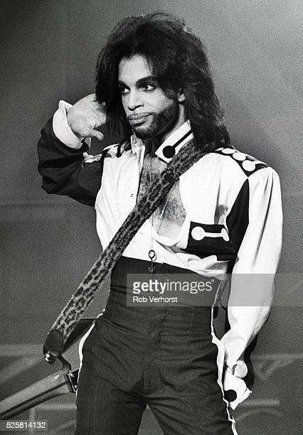 Prince performs on stage at Stadion Feijenoord Rotterdam Netherlands 2nd June 1990
