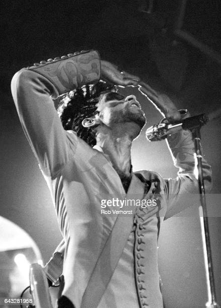 Prince performs on stage on the Diamonds & Pearls tour, Ahoy, Rotterdam, Netherlands, 27th May 1992.