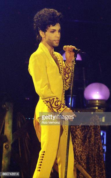 Prince performs on stage on the Diamonds & Pearls Tour, Ahoy, Rotterdam, Netherlands, 6th July 1992.