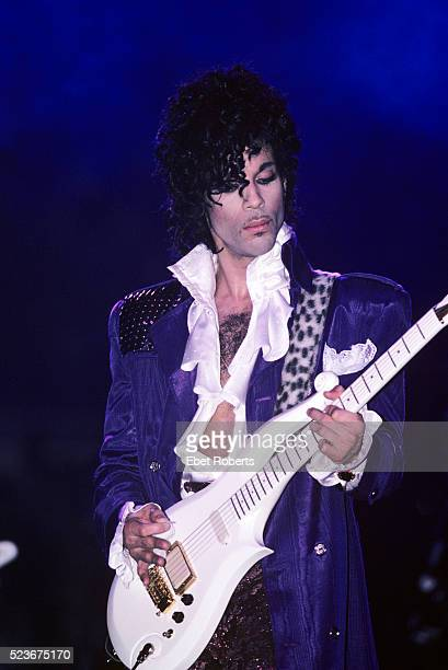 Prince performs on the Purple Rain tour at Joe Louis Arena in Detroit Michigan on November 9 1984