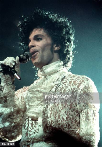 Prince performs on the Purple Rain tour at the St Paul Civic Center in St Paul Minnesota on December 26th 1984