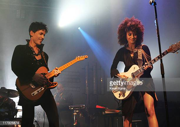 Prince performs with Andy Allo during his Welcome 2 Europe tour at Metropolis on June 24 2011 in Montreal Canada