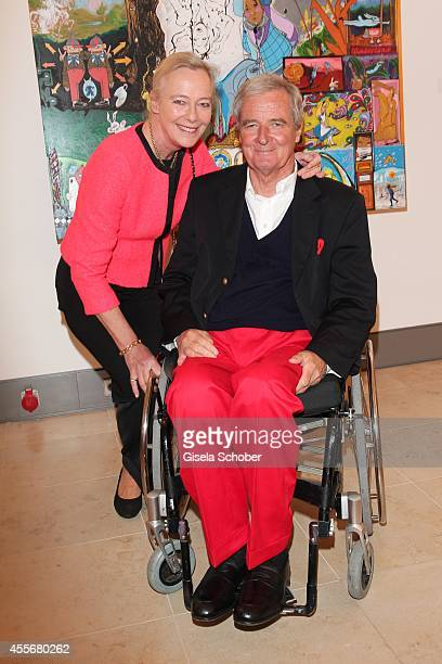 Prince Peter zu Hohenlohe and his wife Ursula Uschi zu Hohenlohe attend the Exhibition Opening of Mauro Bergonzoli at Bayerisches Nationalmuseum on...