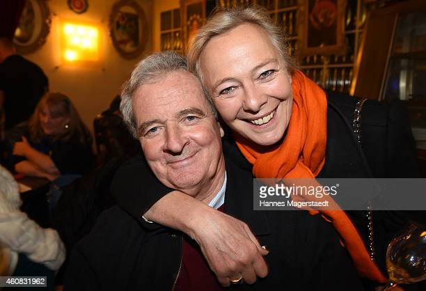 Prince Peter zu Hohenlohe and Princess Uschi zu Hohenlohe attend the 'Circus Krone Christmas Show 2014' at Circus Krone on December 25 2014 in Munich...