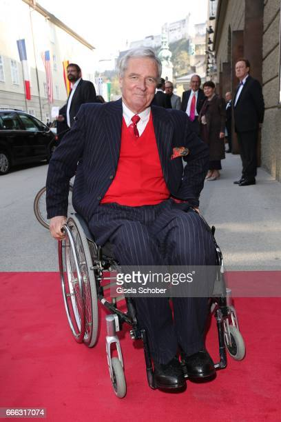 Prince Peter zu Hohenlohe during the opening of the Easter Festival 2017 'Walkuere' opera premiere on April 8 2017 in Salzburg Austria The opera is a...