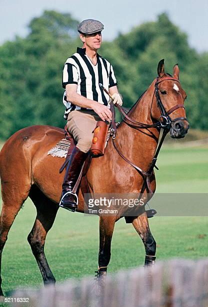 Prince Philip Acting As Polo Referee At Smith's Lawn Polo Club Circa 1973