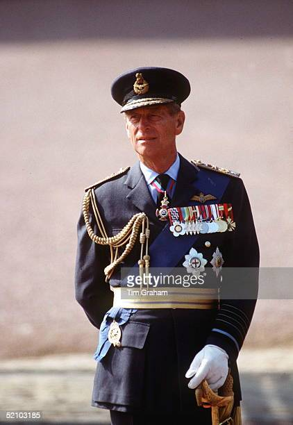 Prince Philip At The Battle Of Britain Fly-past.