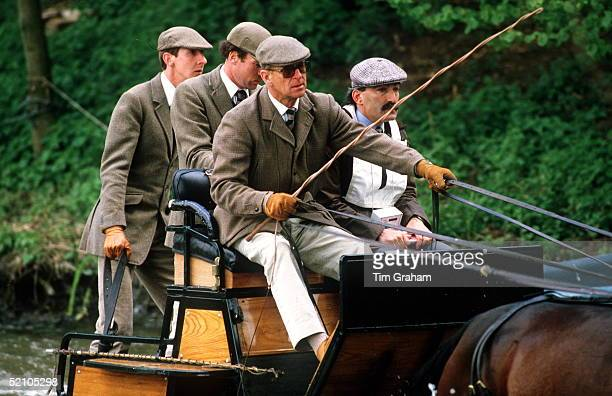 Prince Philip At The Royal Windsor Horse Show , Competing In The Carriage Driving Championships Which He Won.
