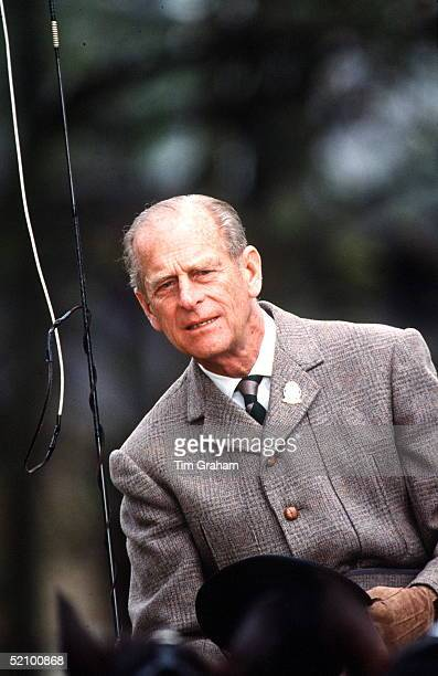 Prince Philip At The Windsor Horse Show With His Team Of Fell Ponies