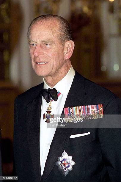 Prince Philip Attends Banquet In Prague Castle Czech Republic