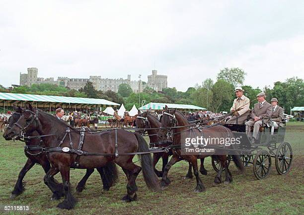 Prince Philip Competing In A Carriage Driving Competition In The Grounds Of Windsor Castle In Windsor Great Park Circa 1980s