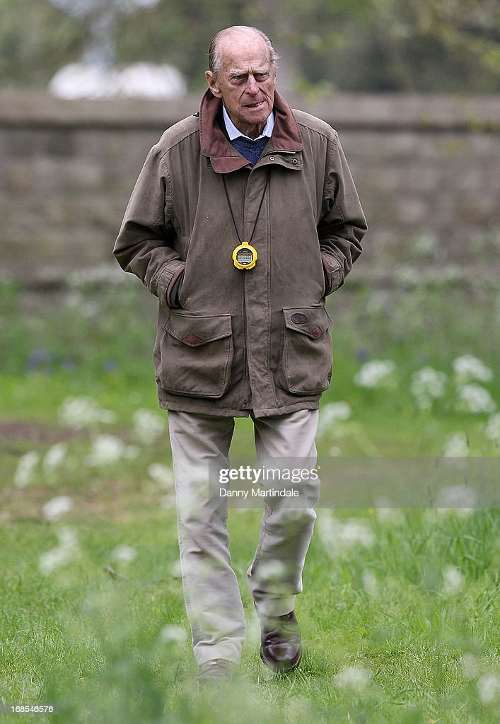 Prince Philip, Duke of Edinburg attends day 4 of the Royal Windsor Horse Show on May 11, 2013 in Windsor, England.