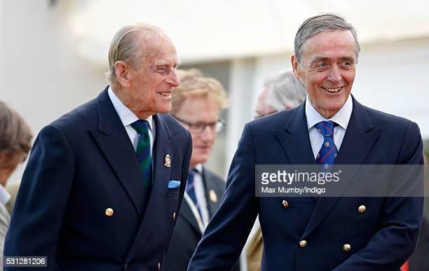 Prince Philip Duke of Edinburgh and Gerald Grosvenor Duke of Westminster attend the Royal Windsor Endurance Event on day 3 of the Royal Windsor Horse...