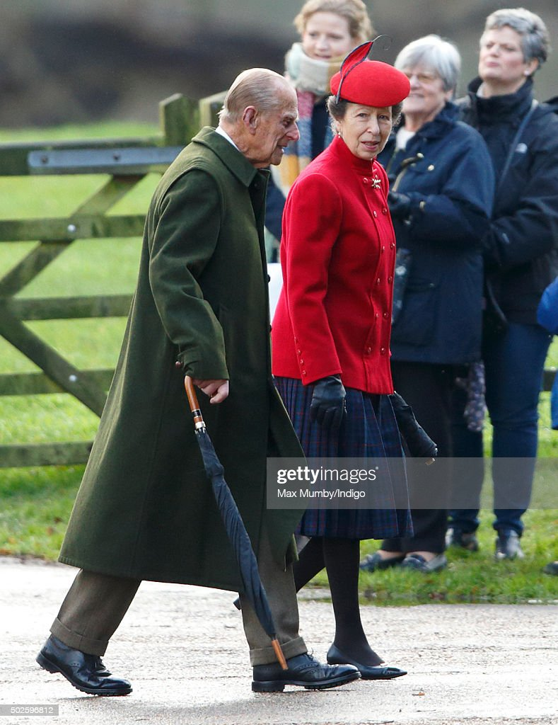 Queen Elizabeth II Attends Sunday Service At Sandringham : News Photo