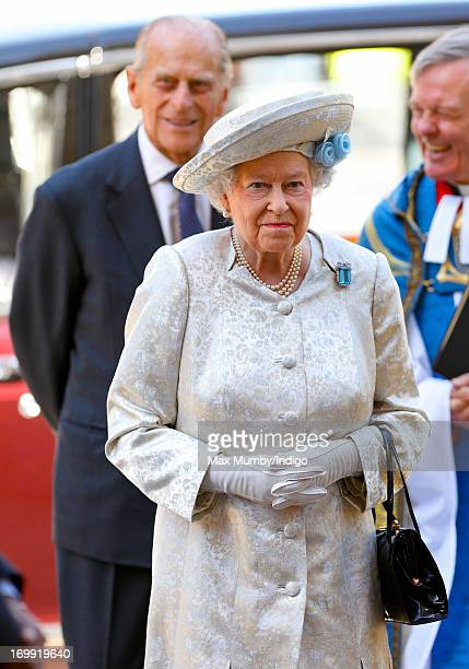 Prince Philip Duke of Edinburgh and Queen Elizabeth II attend a service of celebration to mark the 60th anniversary of Queen Elizabeth II's...