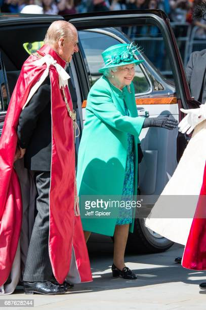 Prince Philip Duke of Edinburgh and Queen Elizabeth II attend a service to mark the Centenary of the Order of the British Empire at St Paul's...