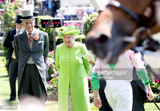 Prince Philip Duke of Edinburgh and Queen Elizabeth II attend day 1 of Royal Ascot 2017 at Ascot Racecourse on June 20 2017 in Ascot England