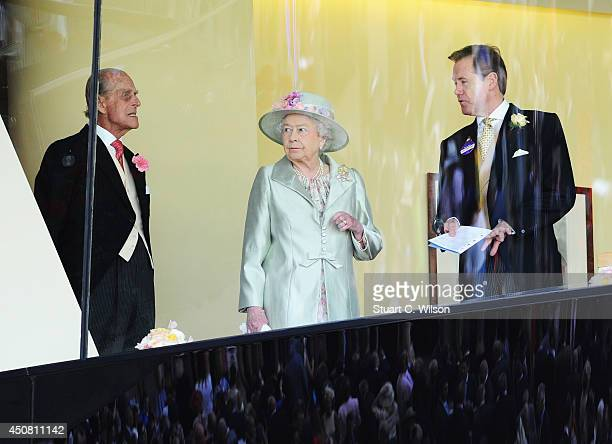 Prince Philip Duke of Edinburgh and Queen Elizabeth II attend Day 2 of Royal Ascot at Ascot Racecourse on June 18 2014 in Ascot England