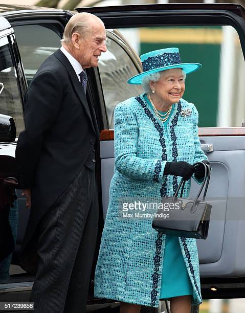 Prince Philip Duke of Edinburgh and Queen Elizabeth II attend the traditional Royal Maundy Service at St George's Chapel Windsor Castle on March 24...
