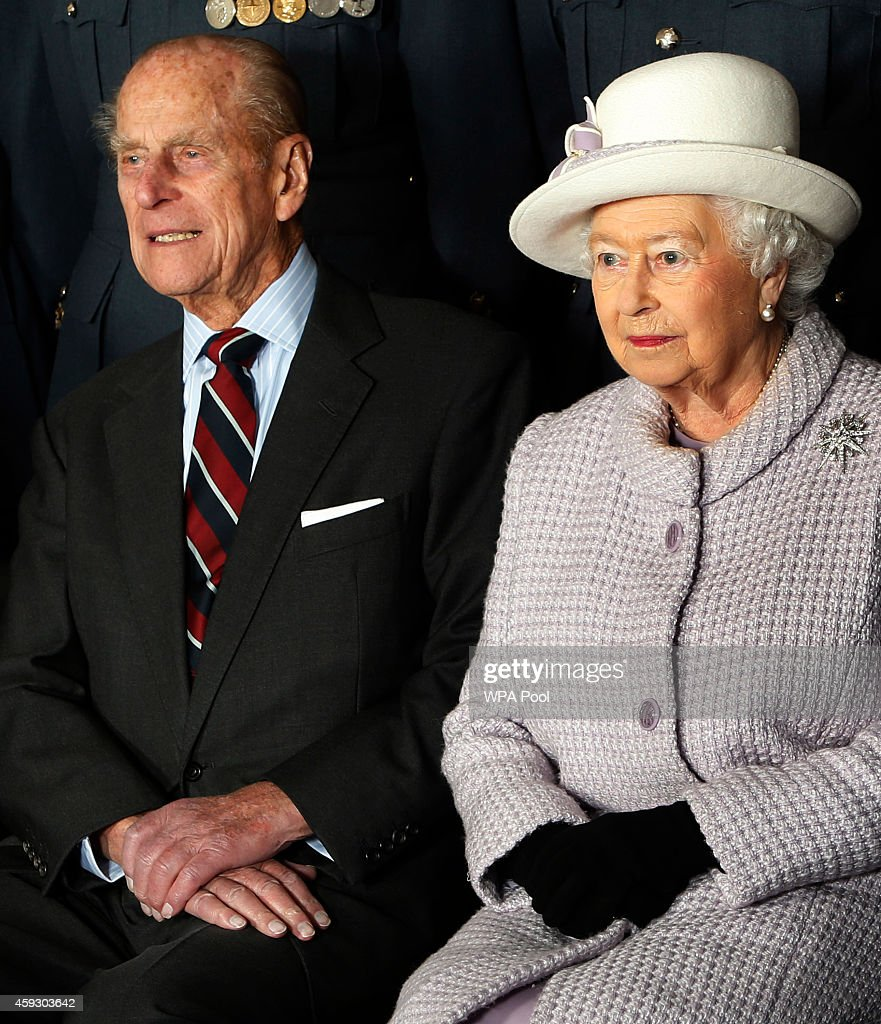 Queen Elizabeth II Visits RAF Lossiemouth : News Photo