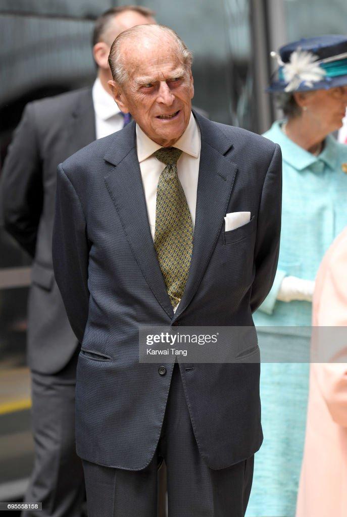 Prince Philip, Duke of Edinburgh arrives at Paddington