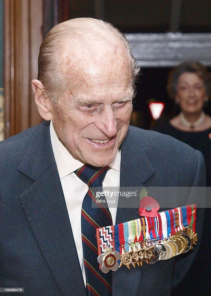 Prince Philip, Duke Of Edinburgh arrives to attend the annual Royal Festival of Remembrance, at London's Royal Albert Hall, on November 10, 2012 in London, England.