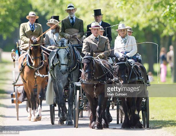 Prince Philip Duke of Edinburgh at a Carriage Driving event at The Royal Windsor Horse Show on May 15 2016 in Windsor England