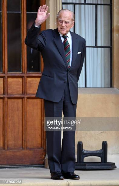 Prince Philip, Duke of Edinburgh attends a ceremony to mark the transfer of the Colonel-in-Chief of The Rifles from him to Camilla, Duchess of...