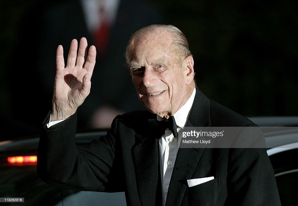 Prince Philip, Duke of Edinburgh, attends a gala pre-wedding dinner held at the Mandarin Oriental Hyde Park on April 28, 2011 in London, England.