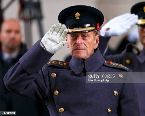 Prince Philip Duke of Edinburgh attends a Last Post ceremony at the Menin Gate on November 11 2013 in Ypres Belgium Prince Philip Duke of Edinburgh...