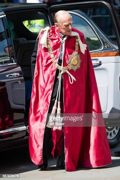 Prince Philip Duke of Edinburgh attends a service to mark the Centenary of the Order of the British Empire at St Paul's Cathedral on May 24 2017 in...